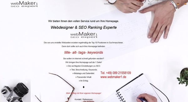 Profi Webseiten erstellen Webdesign Webseite by webmaker1.de